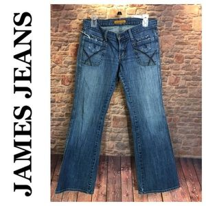 💙James Jeans faded and whiskered denim jean